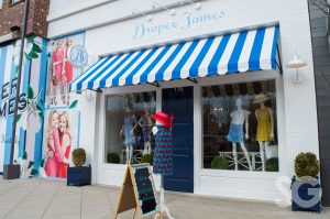 Outside view of Draper James clothing store