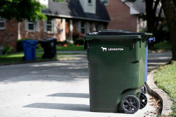 holidays: Lexington garbage cart