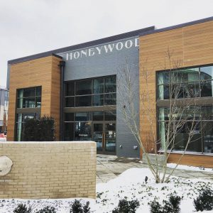 outside picture of honeywood in the winter
