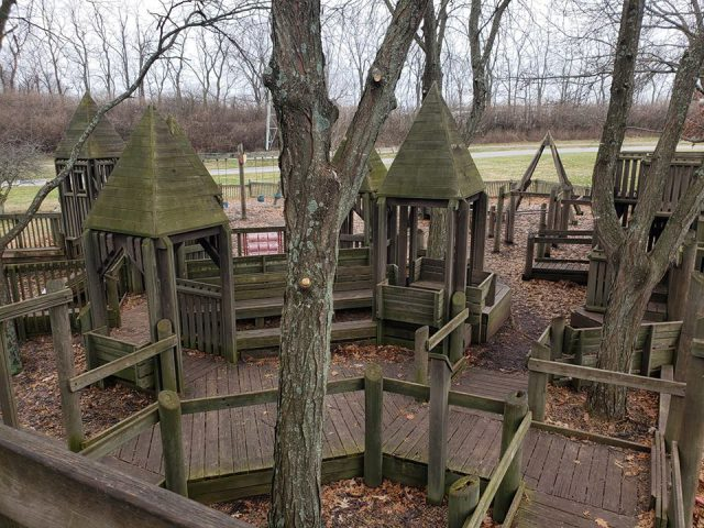 picture of shillito park, a wooden playground