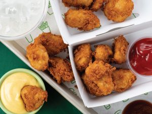 shake shack chick'n bites with dipping sauces