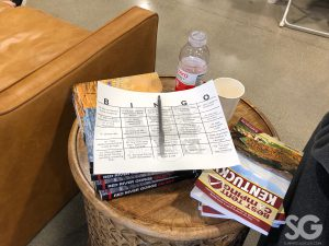 Sports Show: bingo sheet on a wooden table