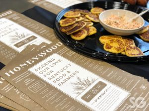 Sports Show: honeywood menu with a tray of small pancakes