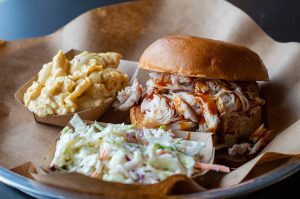 lexington restaurant: bbq sandwith with coleslaw and another side