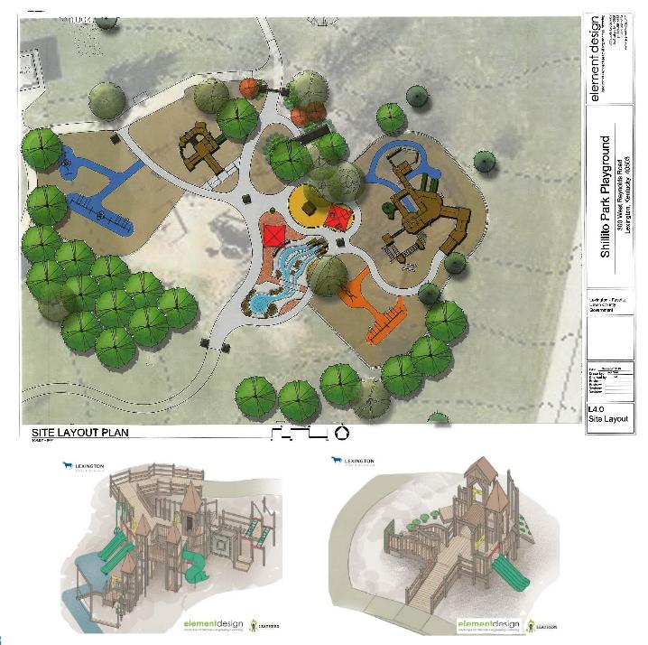 Rendering of Shillito Park for renovation