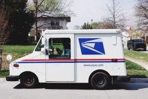 Memorial Day: mail truck