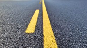 Lexington: a road with yellow lines