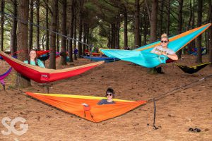 hammock: three girls in hammocks