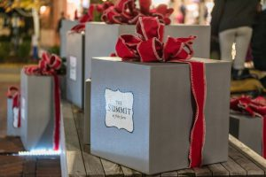 a present that says The Summit at Fritz Farm