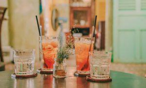 bars: four drinks on a bar
